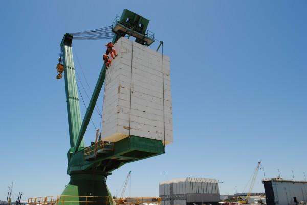 AMCM Pedestal Crane Counterweight Concrete Inspection